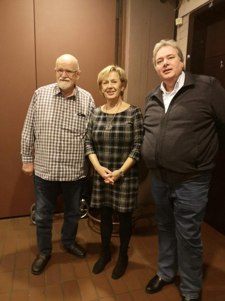 Nominiert für den Rat sind Reiner Friedrich (l) und Dietmar Bluhm (r). Die langjährige Ratsfrau Elke Patz (m) kandidierte nicht mehr.