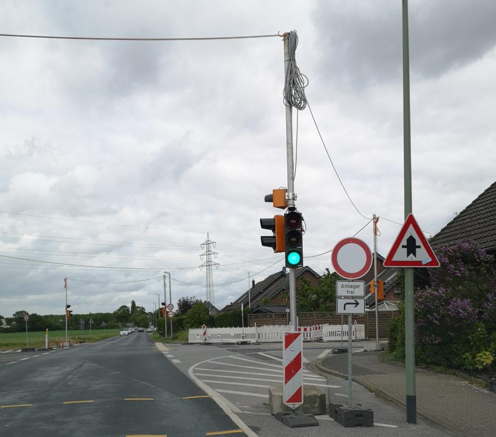 Auf dem Pickert in Rheinhausen vorläufig Anliegerstraße